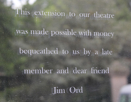 Etched tribute to Jim Ord